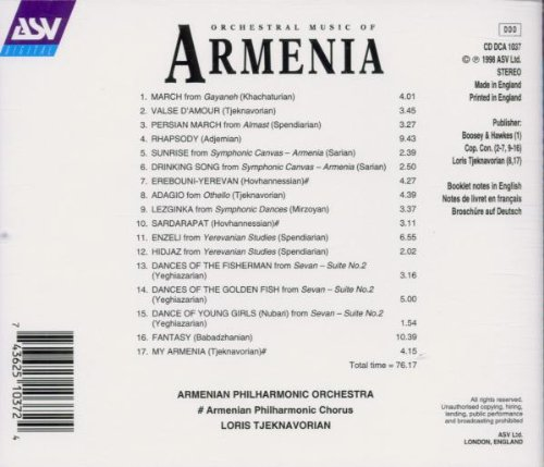 Orchestral Music of Armenia