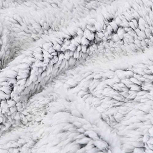 Désinvolte Fashion À Art Outerwear Avec De Mode Glissière Fermeture Gilet Manches Fourrure Automne Laineux Sans Grau Elégante Blouson Chic Warm Femme Hiver qnURfH6P