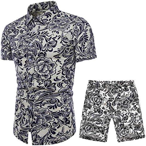 Jincheng665 パーティーシャツ メンズ yシャツ 半袖 ボタンダウン パンツ ウエストゴム セット 4l メンズスーツ 上下セット ビジネススーツ 大きいサイズ クラブ ブラウス おしゃれ