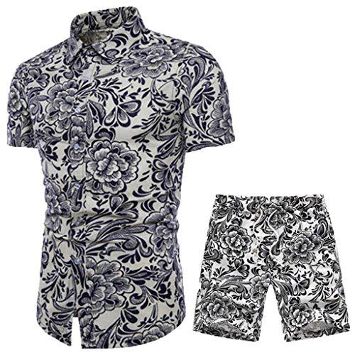 [해외]레프 허벅지 신작 쇼트 슬리브 쇼 츠 프린트 남성용 세트 위장 여름 패션 용 홈 야외 / Lefthigh New Short Sleeve Shorts Print Men`s Set Camouflage Summer Fashion for Home Outdoor