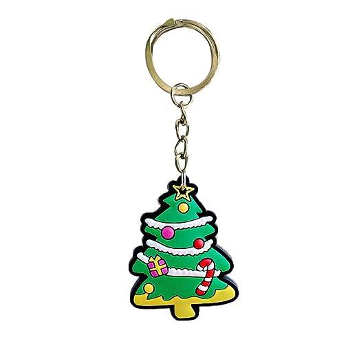chifans Llavero con diseño de Papá Noel, árbol de Navidad ...