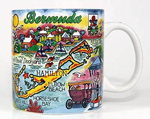 Bermuda Mug - Bermuda Map Caribbean Souvenir Collectible Large Coffee Mug (4