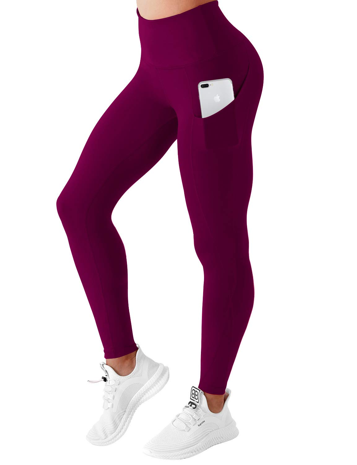 High Compression Yoga Capris Out Pocket Running Capris UPF30+ Non See-Through Fabric