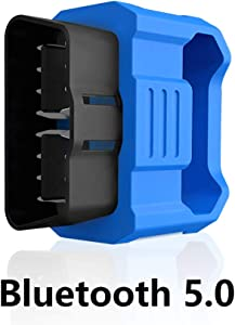 Bluetooth 5.0 OBD2 Scanner Professional Automotive Diagnostic Tool Vehicle Code Reader to Erase Check Engine Light Compatible with iOS, Android Device