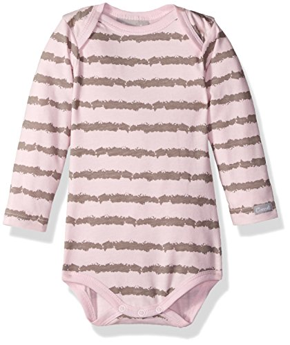 Coccoli Girls' Striped Jersey Knit Cotton/Modal Romper, Slate/Pink, 3 (Jersey Striped Onesie)