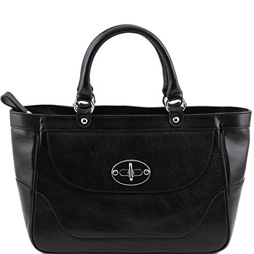 Tuscany Leather - TL NeoClassic - Bolso a mano en piel para mujer Rojo - TL141226/4 Negro