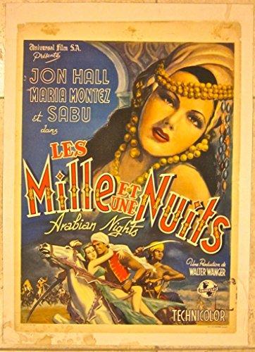 ARABIAN NIGHTS - ORIGINAL 1942 BELGIAN LB POSTER