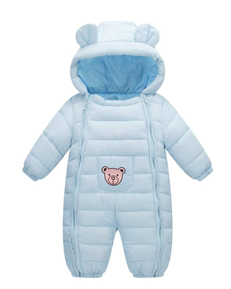 Mono De Nieve Beb/és Mameluco De Invierno Oso Lindo Impresi/ón De La Estrella Lindo Pijama Peleles con Capucha