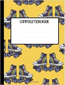 Ebooks Retro Rainbow Roller Skates Wide Ruled Composition Notebook Descargar Epub