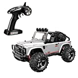 SZJJX RC Cars, 45KMH High Speed Racing Remote Control Monster Trucks 1/22 Scale 4WD 2.4Ghz Radio Controlled Off-Road Vehicle Rock Crawler Fast Electric Desert Buggy (Silver)