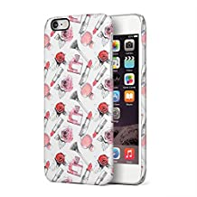 Soft Red Rose Blossom & Parfume Pattern Apple iPhone 6, iPhone 6s Plastic Phone Protective Case Cover