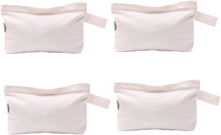 Augbunny 4 bolsas de lona de algodón con cremallera, multiusos, para maquillaje: Amazon.es: Hogar