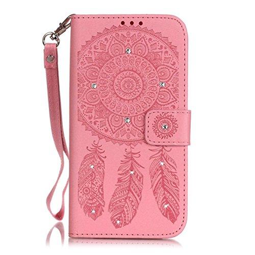 iPhone 8 Plus / 7 Plus Hülle, Arktis Traumfänger Mandala Etui Handyhülle - Rosa