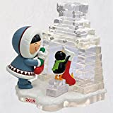 Hallmark Keepsake Christmas Ornament 2018 Year Dated, Frosty Friends Hanging Stockings