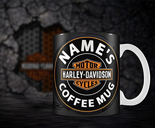Harley Davidson Bike Symbol Hiros/Â/®Personalize Mug ANY NAMES COFFEE MUG.