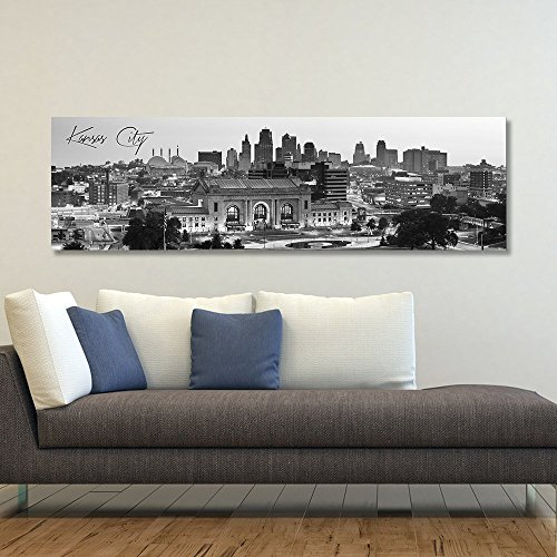 Panoramic Kansas Wrapped Canvas Framed