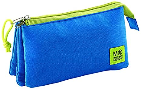 Miquelrius - Estuche triple azul candy tag (17090): Amazon ...