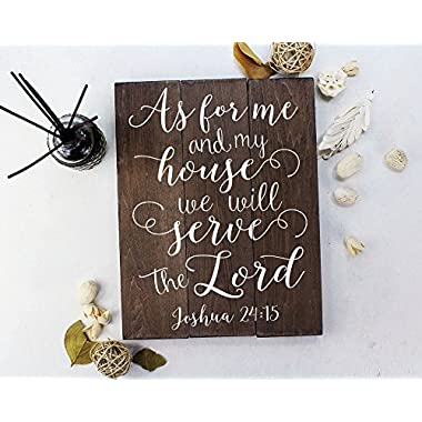 As for me and my house sign Scripture Wall Art Verse on Wood Housewarming Gift Joshua 24:15 Bible Verse Art Bible Verse Sign