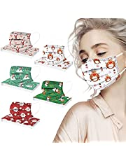 Christmas Disposable Face_Masks for Adults, 50 Pack Christmas 3-Ply Breathable Face_Mask Holiday Face_mask for Women Men (50pcs-christmas Adults Style - 01)