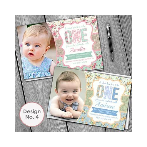 1st birthday invitations boy amazon 1st birthday invitations invite envelopes boy or girl personalised lots of designs filmwisefo