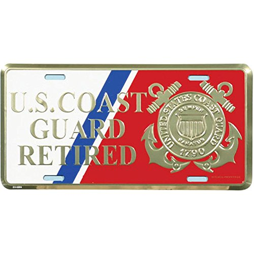 - Honor Country US Coast Guard Retired License Plate