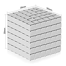 Dadeta Magnetic cube, 216pcs Magic Cubes Building Blocks Educational Toys Stress Relief Toy Games Square Cube Magnets develops intelligence Office School Home DIY Desktop Decoration