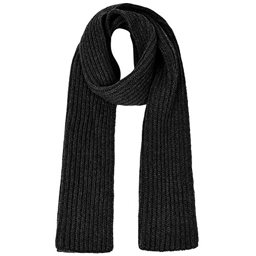 Vbiger Unisex knitted Scarf Warm Wrap Shawl Thickened Winter Infinity Scarf for Men and Women (Black)