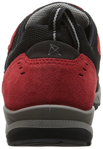 Ecco Mens Yura Gtx Fashion Sneaker Black / Tomato