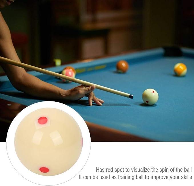 Wolfgo 6 Dot 27mm / 2.25 Resin Billiard, 6 Oz Training Cue Ball para Entrenamiento estándar de Billar Pool Snooker Training: Amazon.es: Deportes y aire libre