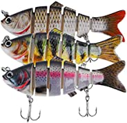 BINC Bionic Fishing Lures for Bass Trout Slow Sinking Multi Jointed Swimbaits Lifelike Swimming Hard Baits for