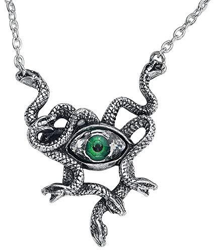 Alchemy of England Gorgons Eye Necklace, Silver (Alchemy Gothic)