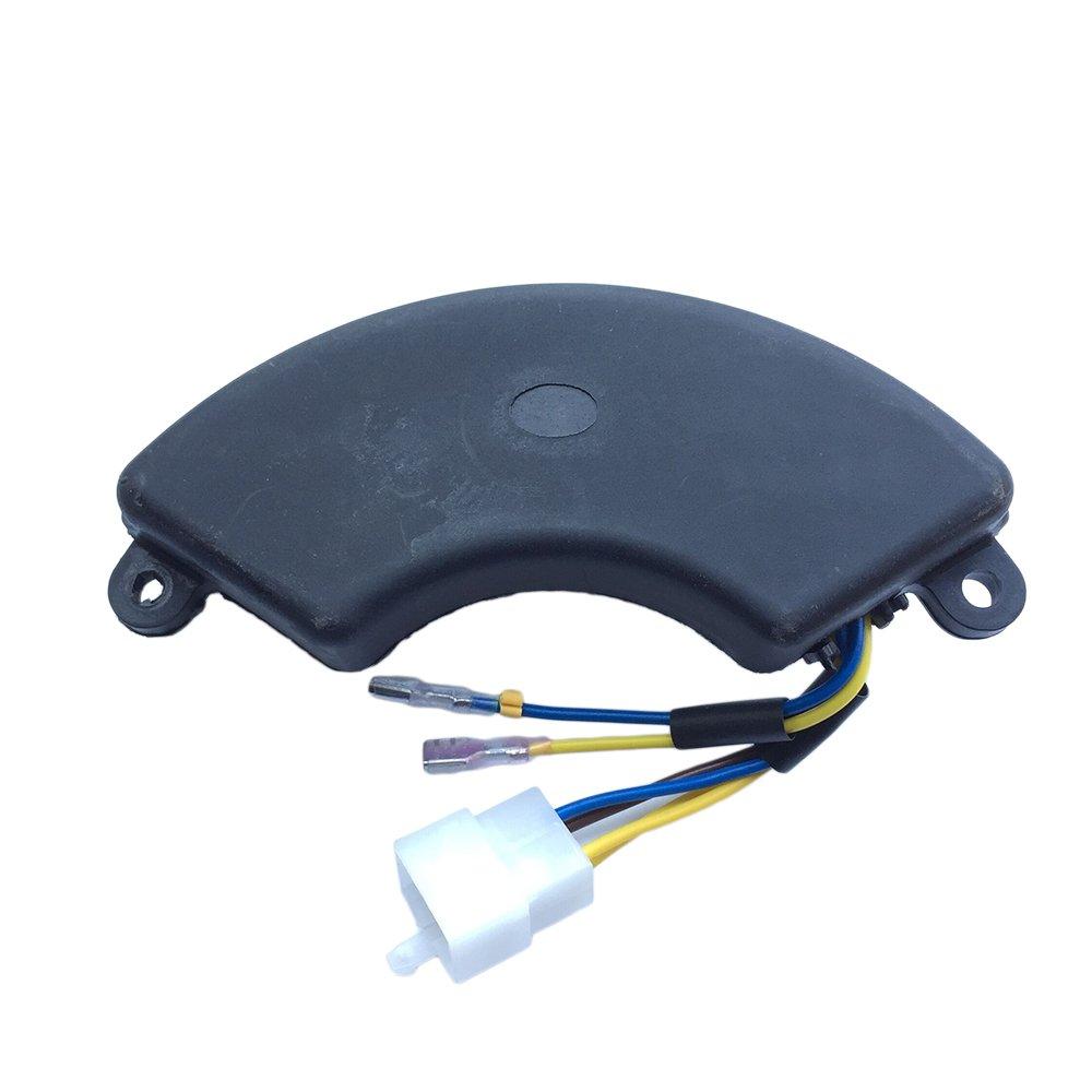 JINGKE AVR Voltage Regulator for Generator 5KW 6KW 6.5KW 7KW 7.5KW 8KW 8.5KW Halfmoon Style JINGKE-ZLQ-1