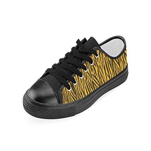 Womens Story Zebra Shoes Stripes Yellow Model 018 Custom Canvas Classic D w7tdX7