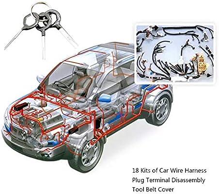 Automotive wiring harness plug terminal removal tool 3-piece ... on