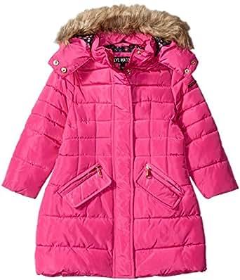 Steve Madden Little Girls' Toddler Long Bubble Coat, Fuchsia, 2T