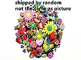 Lot of 100 Pcs Different Random Shoe Charms for Croc Shoes & Jibbitz Bands Bracelet Wristband