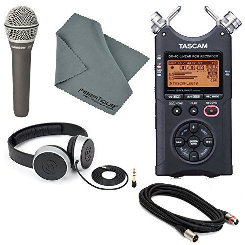 tascam-dr-40-4-track-handheld-digital-audio-recorder-with-deluxe-accessory-bundle