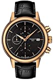 Tissot Carson Automatic Chronograph Black Dial Black Leather Mens Watch T0854273606100