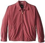 London Fog Men's Big Auburn Zip Front Light Mesh Lined Golf Jacket, Burgundy, 4X