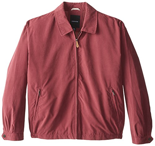 London Fog Men's Big Auburn Zip Front Light Mesh Lined Golf Jacket, Burgundy, 4X by London Fog