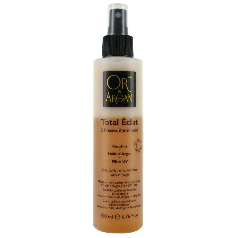 or et argan - Total Eclat 200 ml - Spray 3 Phases illuminant - soin capillaire multi action sans rincage