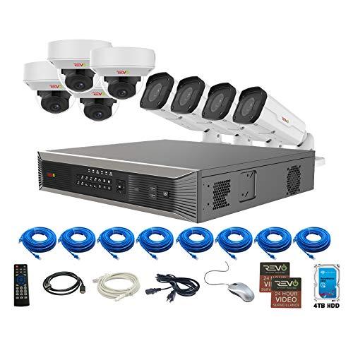 REVO America Ultra Plus 4TB, 8 Cameras Surveillance System, Black (RUP1614KBNDL-1)