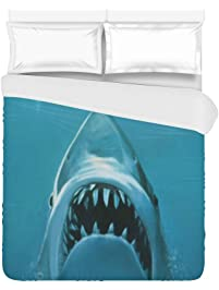 shark underwater home bedding duvet cover quilt cover 86 x 70 inches