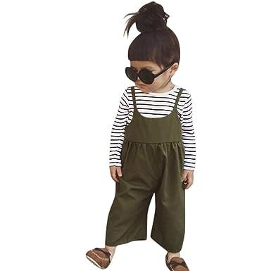 Geilisungren Ropa Bebé Niña Conjunto de Traje Pantalones con ...