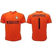 F.C.Internazionale Maglia Handanovic Inter 2019 Arancione Ufficiale Stagione 2018/2019 Replica Autorizzata Portiere Home Samir