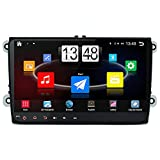 junsun Double-DIN 9 inch Car Dvd Player with Touch Screen Lcd Monitor Bluetooth,FM,GPS Navigation Free Maps