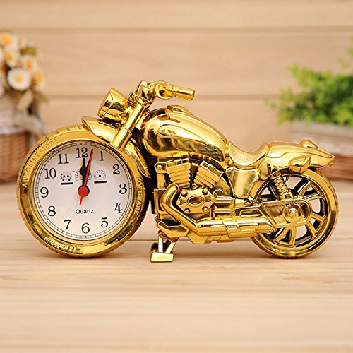 Clocks Desk Family Decoration Alarm Clock Classic Motorcycle Mute Snooze Mechanical Alarm Clock Desk Bedroom