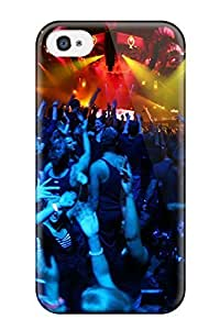 Hxy Scratch-free Phone Case For Iphone 4/4s- Retail Packaging - Concert