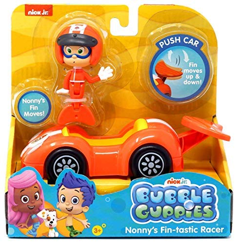 Bubble Guppies - Nonny's Fin-Tastic Racer Vehicle Set - Fin Moves Up & Down! Nonny's Fin Moves! -