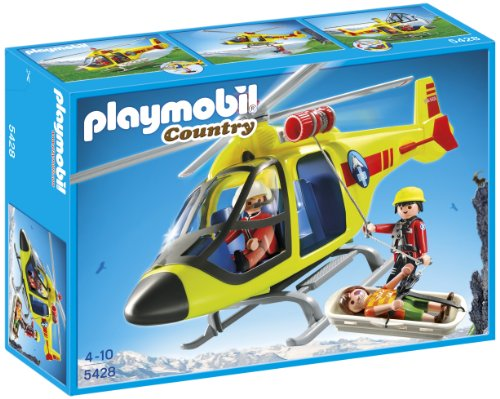 PLAYMOBIL Mountain Rescue Helicopter (Rescue Helicopter Playmobil)